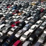 used car auction lot