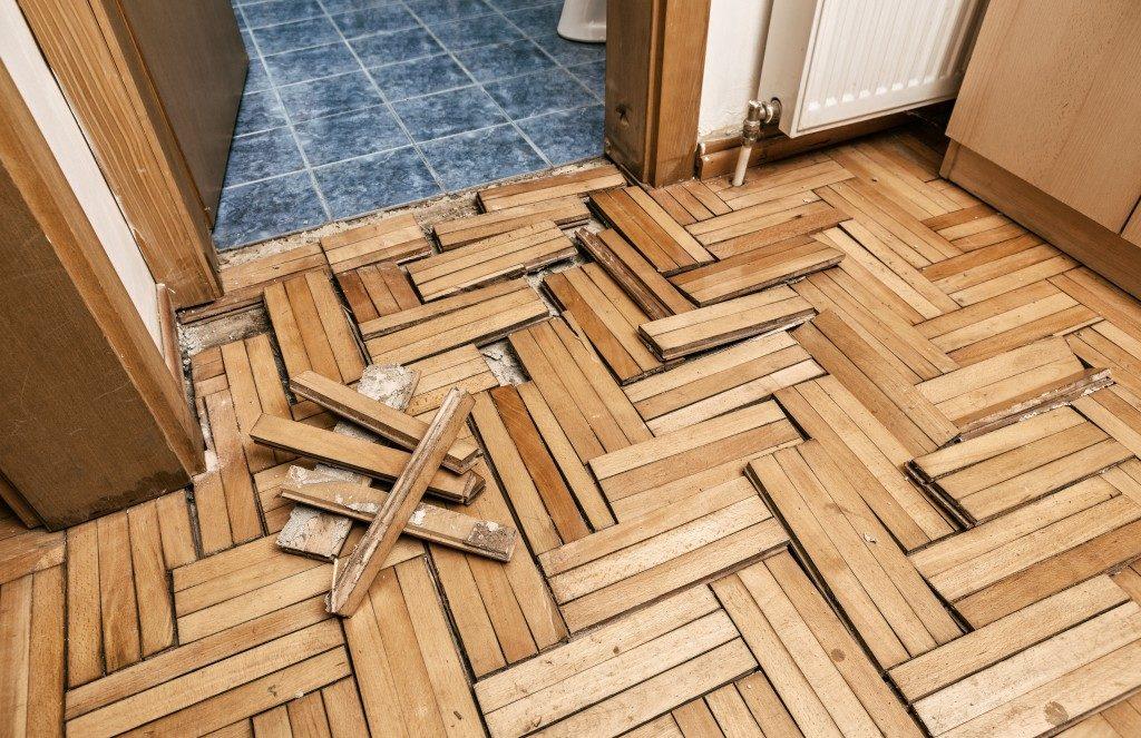 broken floor