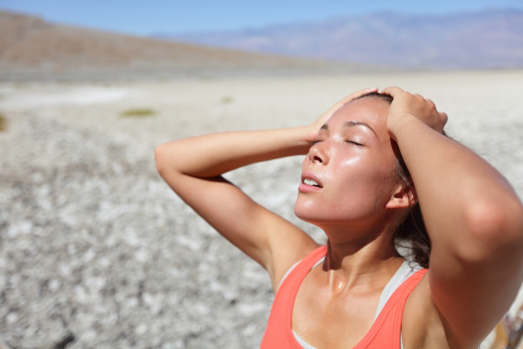 woman suffering from heat stress