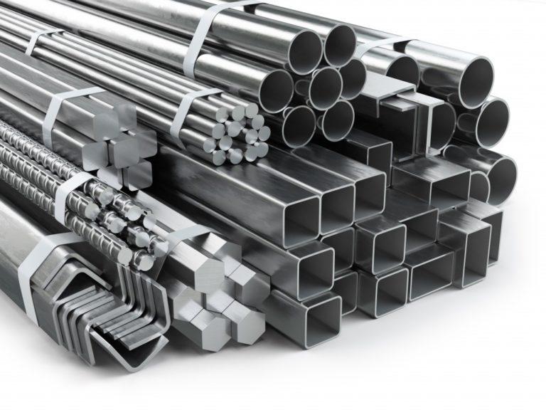 Metal beams and pipes