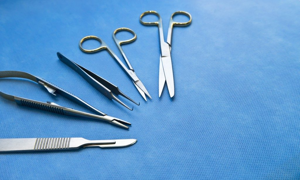 Metal surgical tools