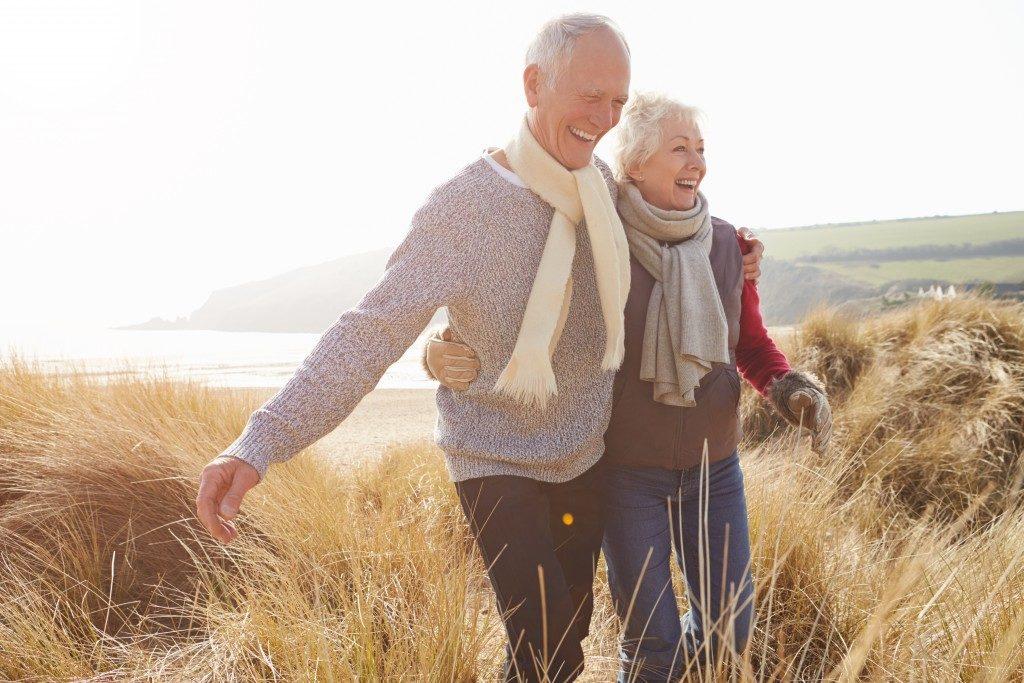senior couple enjoying their adventure