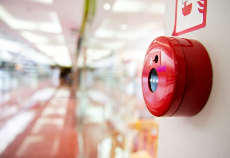 Close up of fire alarm