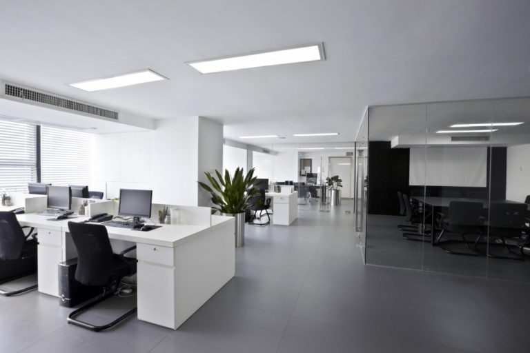 Clear minimalistic office space