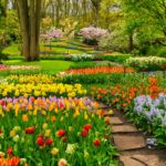Beautiful garden landscape
