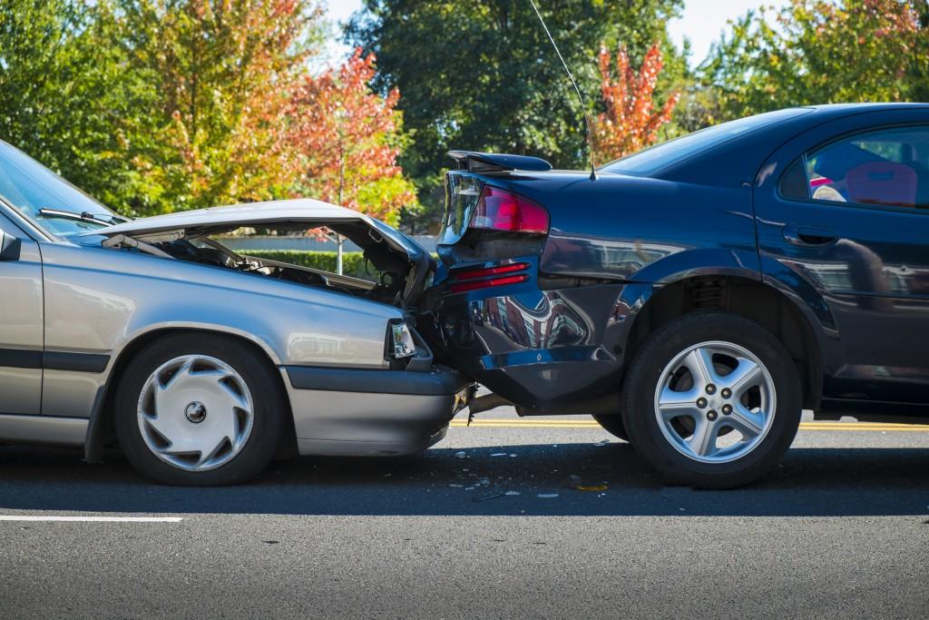 Crash between two cars