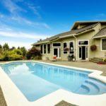 Pool outside of house