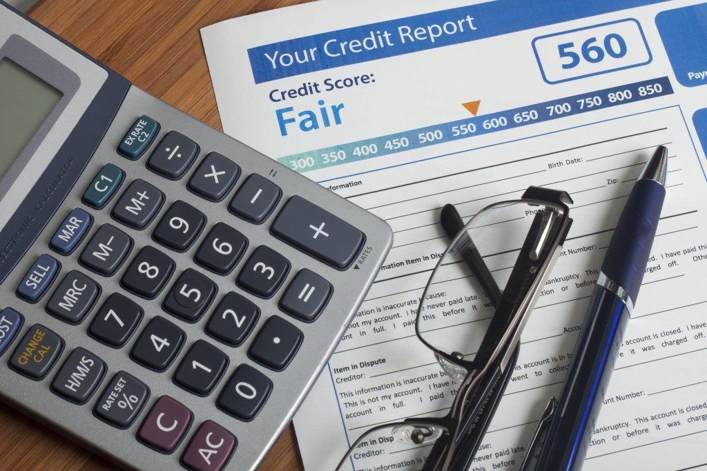 Credit report with a fair score