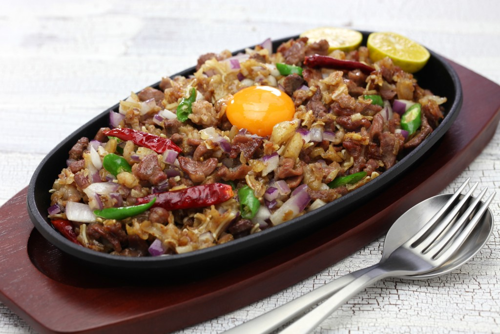 Filipino food Sisig