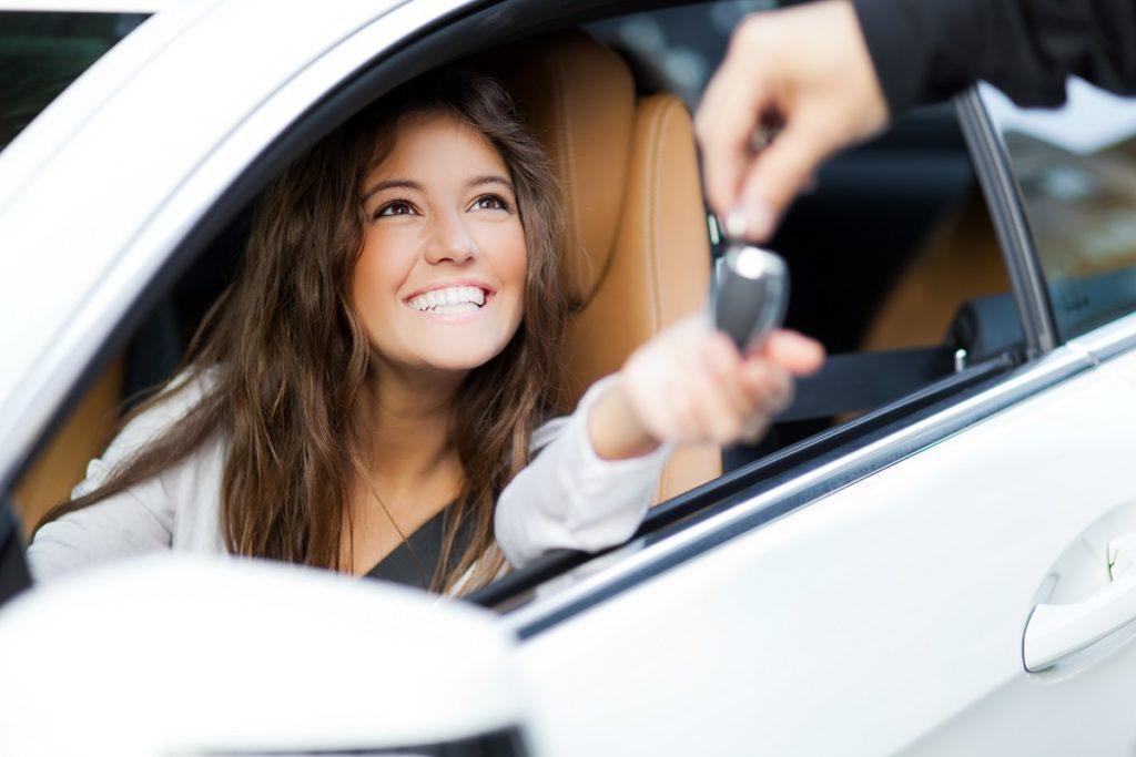 girl renting car