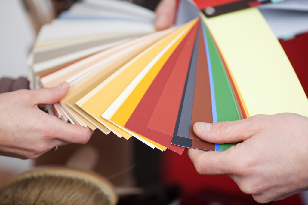 choosing color swatches