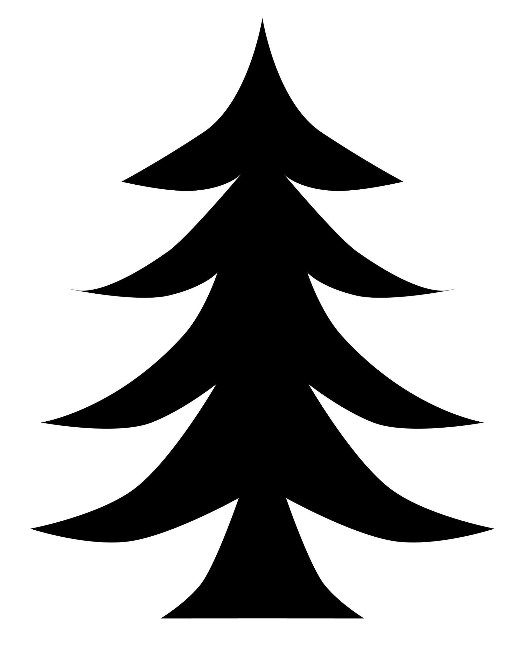 black christmas tree concept