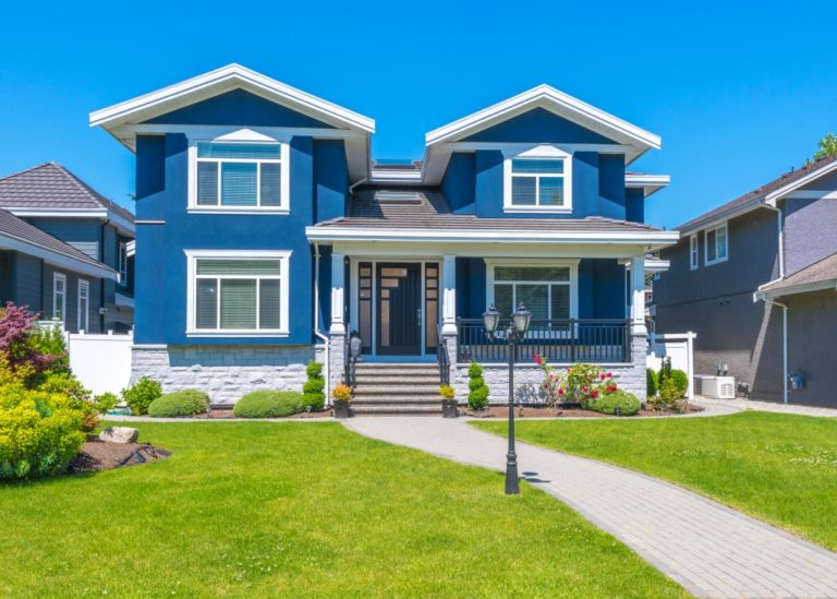 blue luxury house